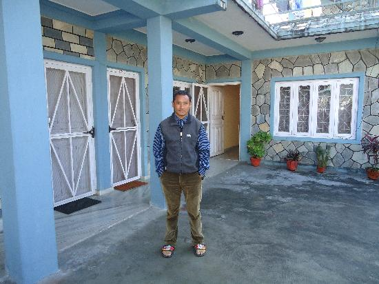 Karma Guest House: Mr. Pun in his guest house
