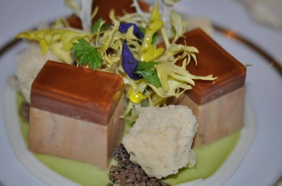 Lorenz Adlon Esszimmer: Goose Liver / Peppercorn Cream Sauce Parfait,  Almond Spaghetti And Coffee