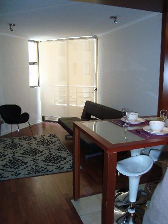 Andes Hostel: 食堂兼リビングもついてます。