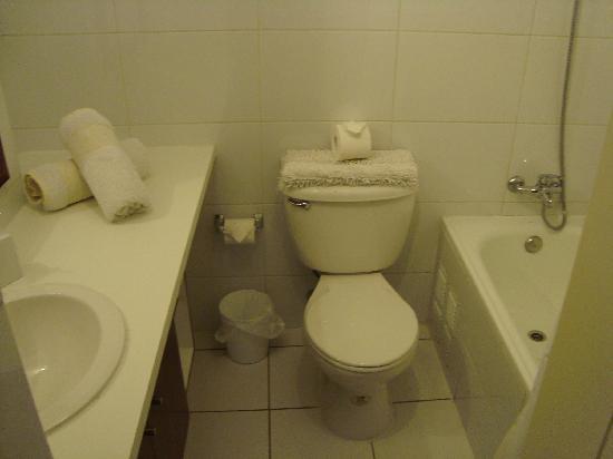 Andes Hostel: 清潔なバスルーム。石鹸はありますが、シャンプー類はありません。