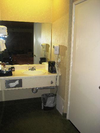 Castle Inn and Suites : vanity area