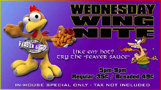 Feaver & Co. Sports Bar & Grill: Wing Night Wednesday's