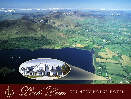 Loch Lein Country House: Aerial view