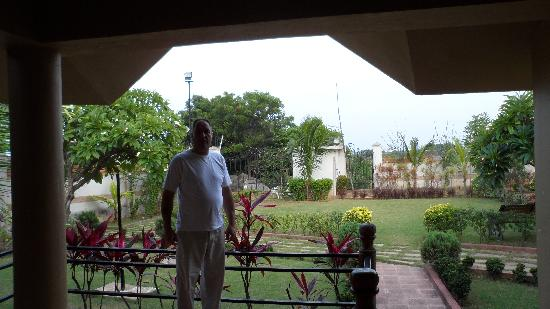Country Club Medchal : View out of bungalow