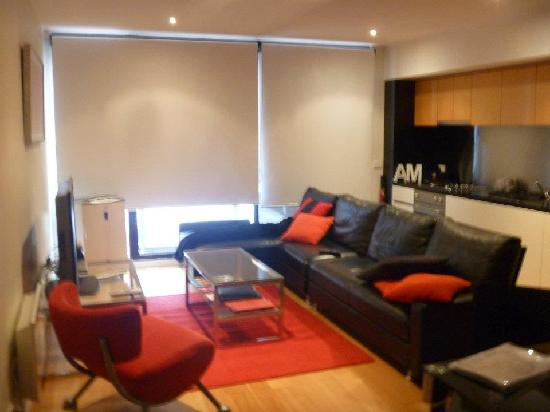 About Melbourne Apartments: The living room/ Kitchen