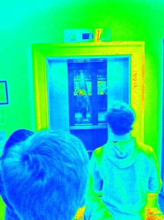Ghost Tours of Galveston: tremont hotel elevator through thermal