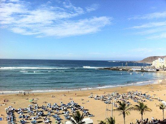 La Oliva Restaurant: Udsigt over stranden i Las Palmas