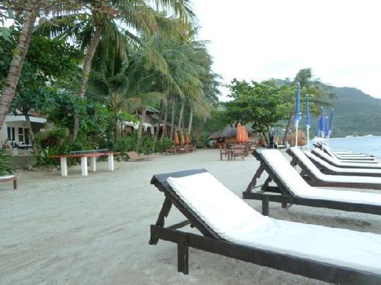 Sunset at Aninuan Beach Resort: Aussen