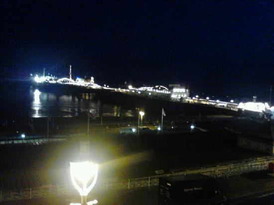 Atlantic Hotel: Night view (photo taken with mobile phone, doesn't do it justice at all!)