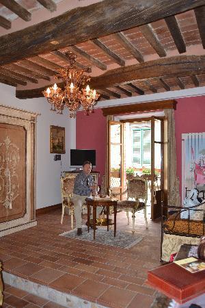 Antica Dimora Le Contrade: il salottino della nostra camera