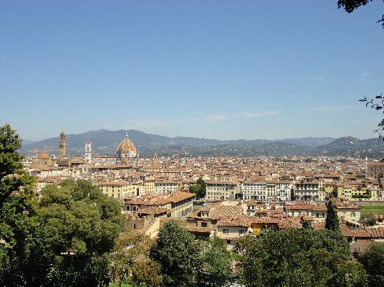 Hotel Medici: Vue de Florence depuis le jardin de boboli