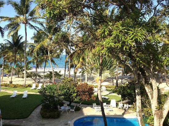 Cabarete Palm Beach Condos: View from Penthouse back condo