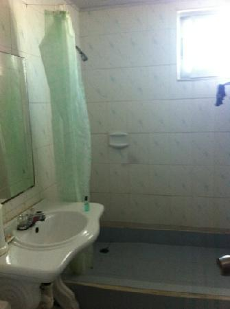 تشاينا تاون هوتل: bathroom at china town hotel. not clean enough!