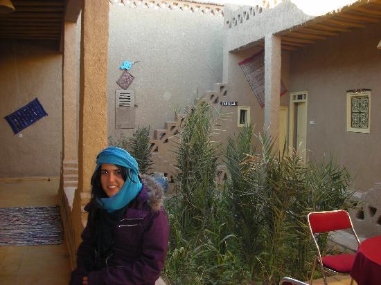 En el patio del Riad Tadarte