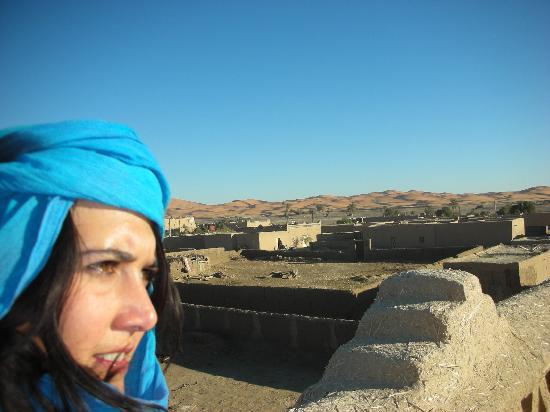 En la terraza del Riad Tadarte
