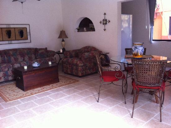 Cabo Caliente Vacation Properties: Marina Sol B 104 Living area
