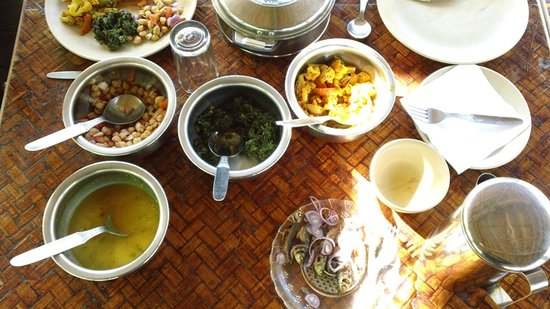 Nature Hunt Eco Camp, Kaziranga: delicious food at the camp