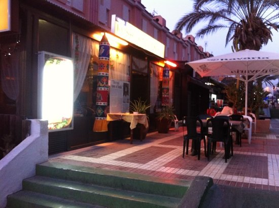 Poornima: Outdoor seating and entrance