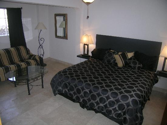 Cabo Caliente Vacation Properties: Marina Sol E 203 Master Bedroom with Futon Couch