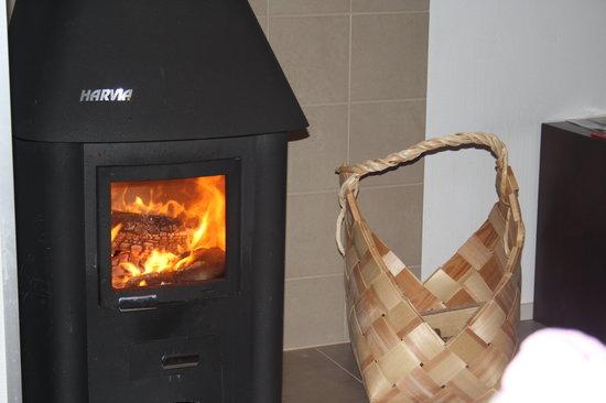 Lapland Hotel Akashotelli: Gorgeous log burner