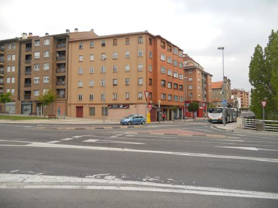 Hotel Pamplona Plaza: The hotel is the very last building in the distance, on the left