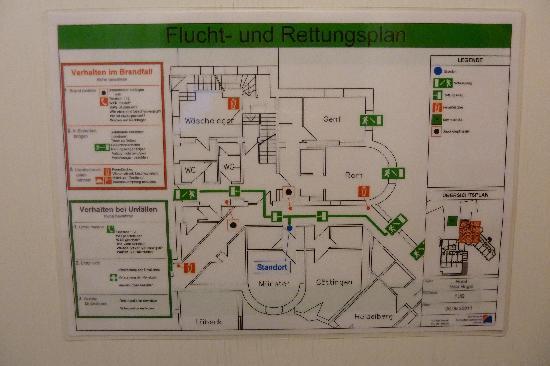 Hotel Villa Hügel: Fluchtplan