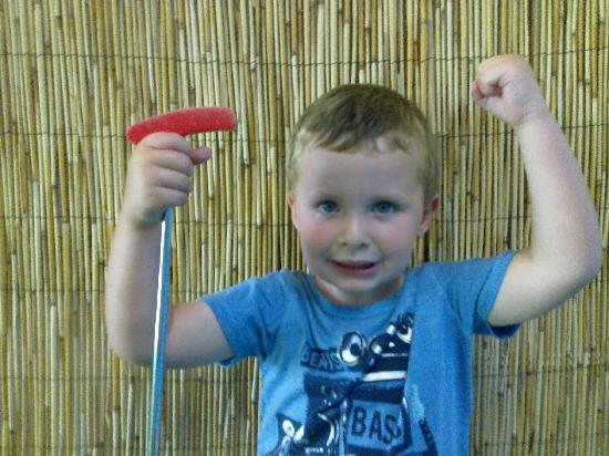 Port Putt Putt: Jack Strudwicke - Only 3 years old and earnt the under 4's record holder