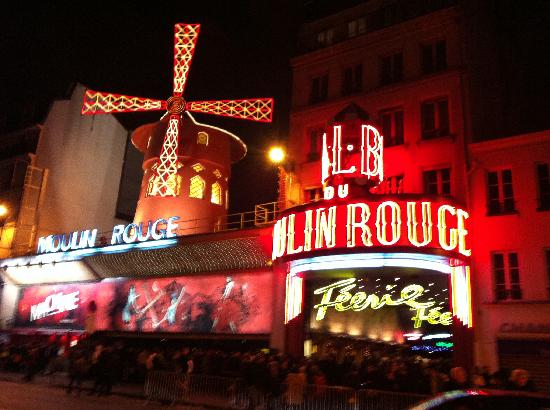 Moulin Rouge: from across the street after the show.