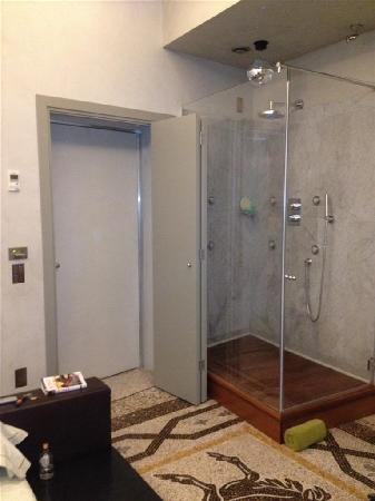 "Residenze Suite Sistina: ""fishbowl"" shower"