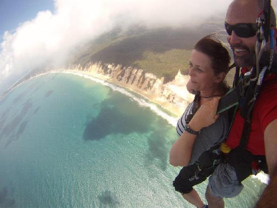 Skydive Fraser Island What An Experience Skydiving At Rainbow Beach Australia