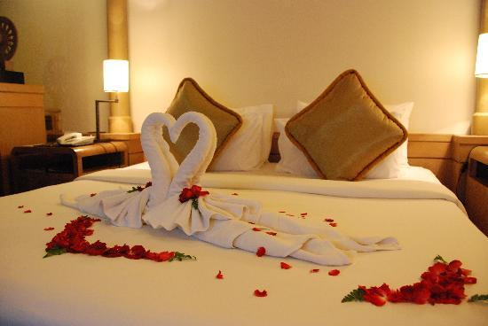 The resort made special decoration free of charge in our room to