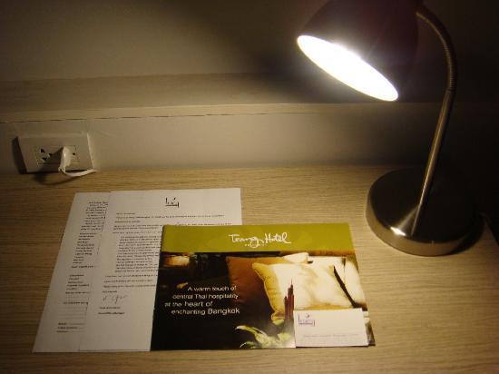 Trang Hotel Bangkok : Welcome letter and hotel brochure