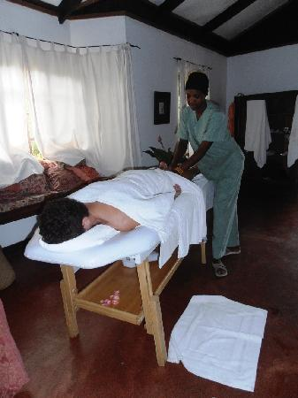 Rivertrees Country Inn: well earned massage...!