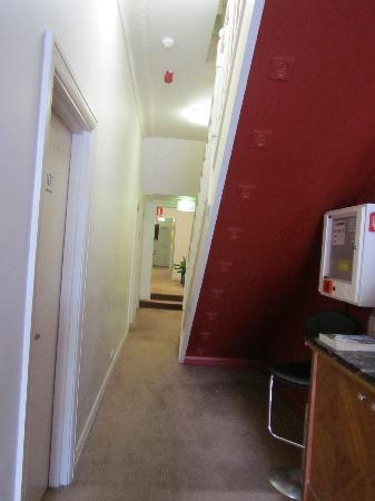 Perouse Lodge: hallway on first floor