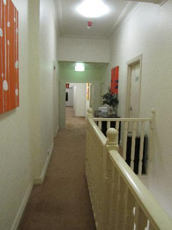 Perouse Lodge: hallway on 2nd floor