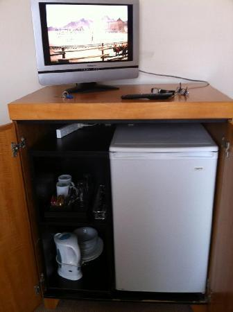 Perouse Lodge: TV stand/fridge