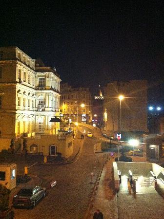 Galata Flats: foto sacada desde la ventana del departamento