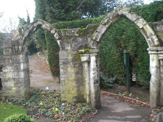 The York Priory: Ruins in the back garden...