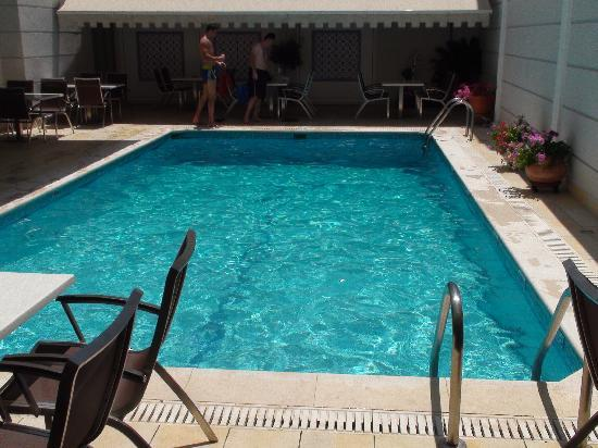 Menelaion Hotel : Pool & Outdoor eating/sitting area