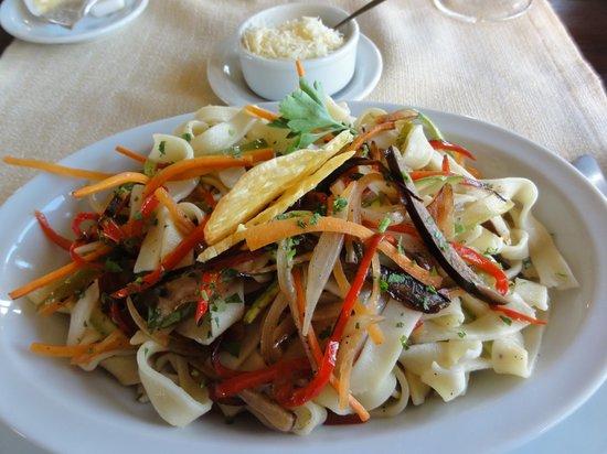 Las Dunas: Talharim vegetariano