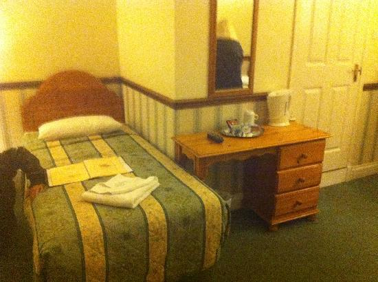 Gatwick Belmont Hotel & Restaurant: One side of the twin room at the front
