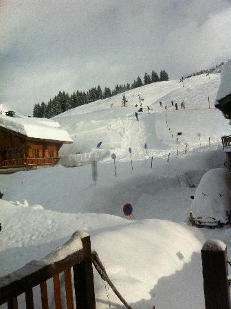 La Ferme de Florent: Ski in/ski out - view from the chalet