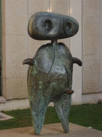 Sculpture entrance - Joan Miro Foundation Museum - Picture of ...