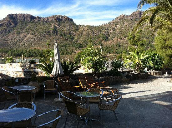 Hotel Rural Las Tirajanas: Nice terrace with stunning views