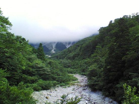Saino Kawara : 天気が悪くて山頂が見えませんでした