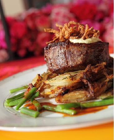 catered filet for dinner