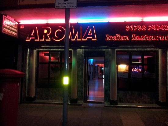 Shop front picture of aroma indian restaurant romford for Aroma japanese cuisine restaurant