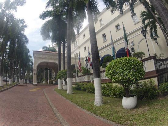 El Prado Hotel : Flags posted represented nationalities of guests, we heard.
