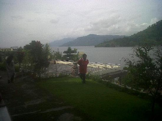 Inna Parapat: The view of Lake Toba from our room.