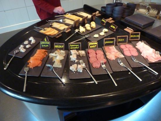 Hotel Recour : Breakfast meats & cheeses - One small glimpse at what was available for breakfast